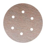 Disco Norton de lixa seco A275 grão 80 152mm c/ 6 furos