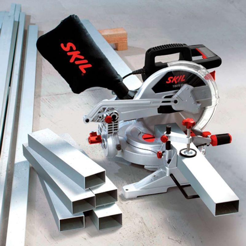 Serra-de-Esquadria-Skil-3310-1800W---1-Disco---1-Chave-de-troca---1-Saco-coletor-de-po---1-Regua-e-Jogo-de-extensao-de-mesa-110V
