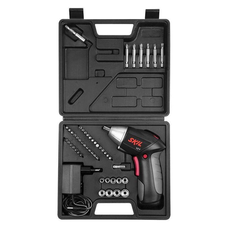 Parafusadeira-a-Bateria-Skil-2248---48V---1-Carregador---1-Kit-49-bits---2-Adaptadores---Maleta-110V