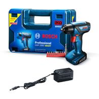 Parafusadeira/Furadeira a Bateria Bosch GSR 1000 Smart 12V + Carregador Bivolt + Kit de Acessórios + Maleta