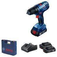 "Parafusadeira/Furadeira a Bateria 1/2"" Bosch GSR 180 LI 18V + 2 baterias 1,5Ah + 1 Carregador Rápido Bivolt + Maleta"