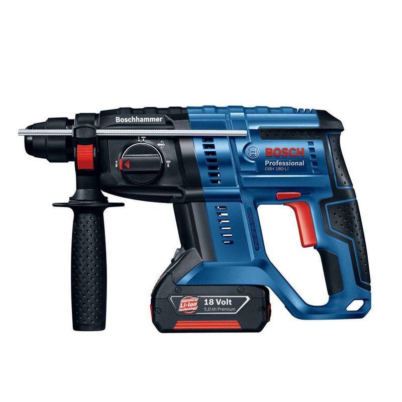 Martelete-Perfurador-a-Bateria-Bosch-GBH-180-LI-SDS-Plus-18V-17J-EPTA---2-Baterias-30Ah---1-Carregador---Maleta