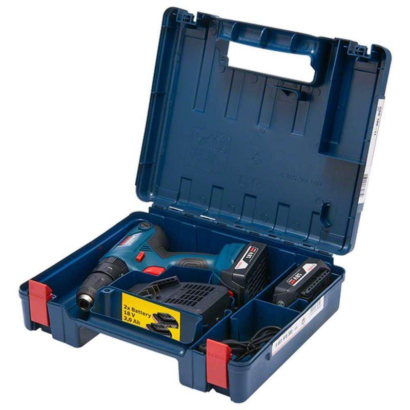 Parafusadeira-Furadeira-de-Impacto-1-2--Bosch-GSB-180-LI-18V---2-Baterias-15Ah-Carregador-Bivolt-Kit-de-acessorios---Maleta
