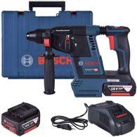 Martelete Perfurador Demolidor a Bateria Bosch GBH 18V-26 SDS-plus 18V + 2,6J EPTA + 2 Baterias 6,0Ah, 1 Carregador + Maleta