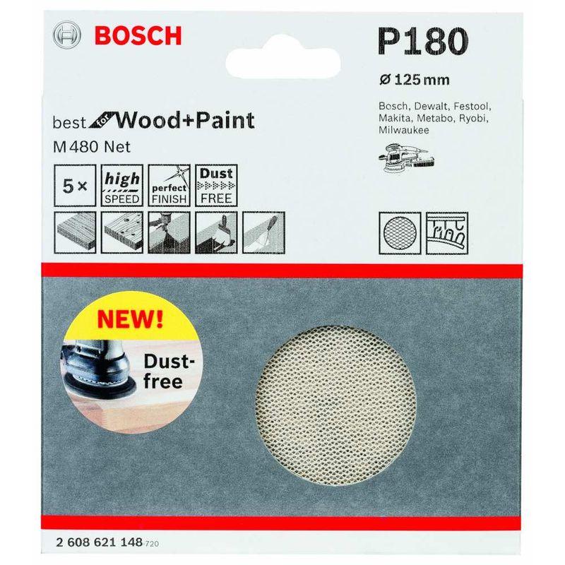 Disco-de-Lixa-Bosch-M480-Best-for-Wood---Paint-125mm-G180---5-unidades