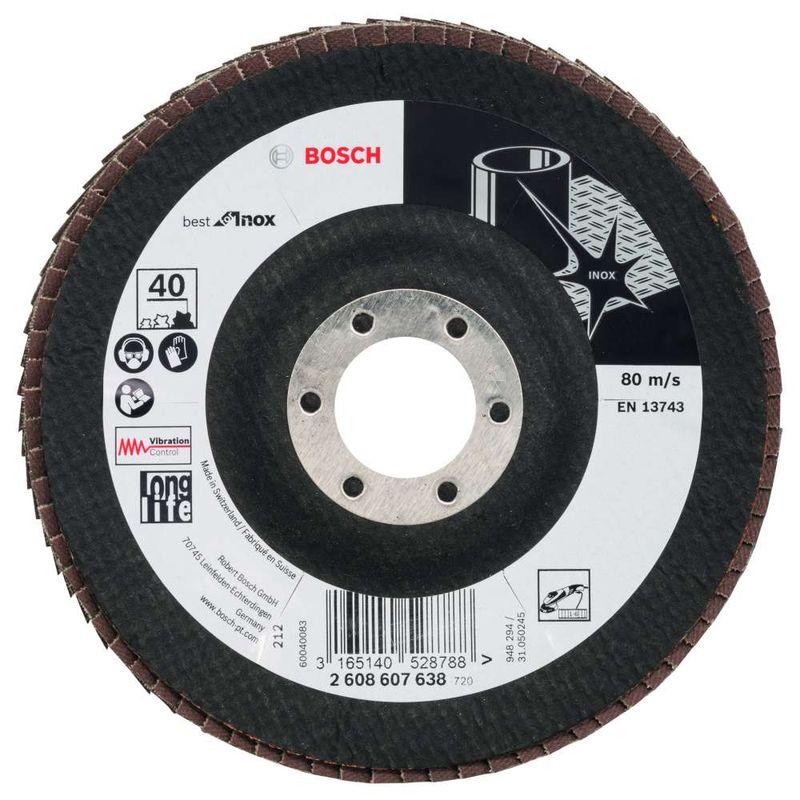 Disco-Flap-Bosch-X581-Best-for-Inox-125mm-G40-Curvo-Fibra-de-Vidrio