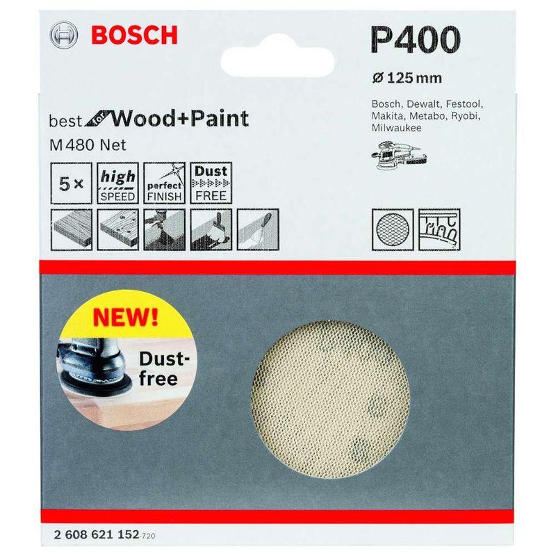 Disco-de-Lixa-Bosch-M480-Best-for-Wood---Paint-125mm-G400---5-unidades