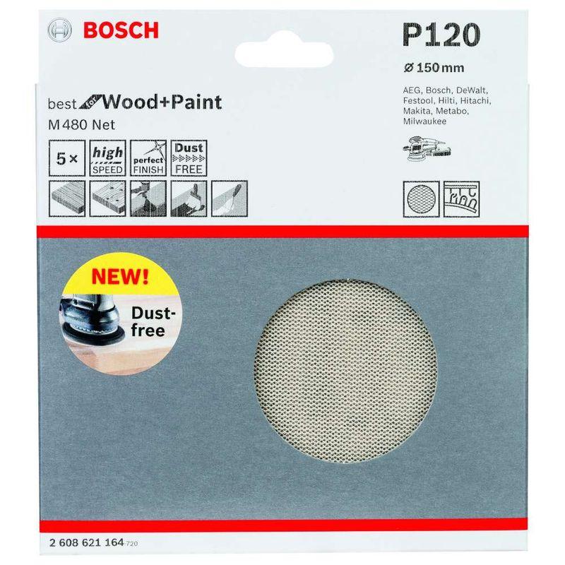 Disco-de-Lixa-Bosch-M480-Best-for-Wood---Paint-150mm-G120---5-unidades