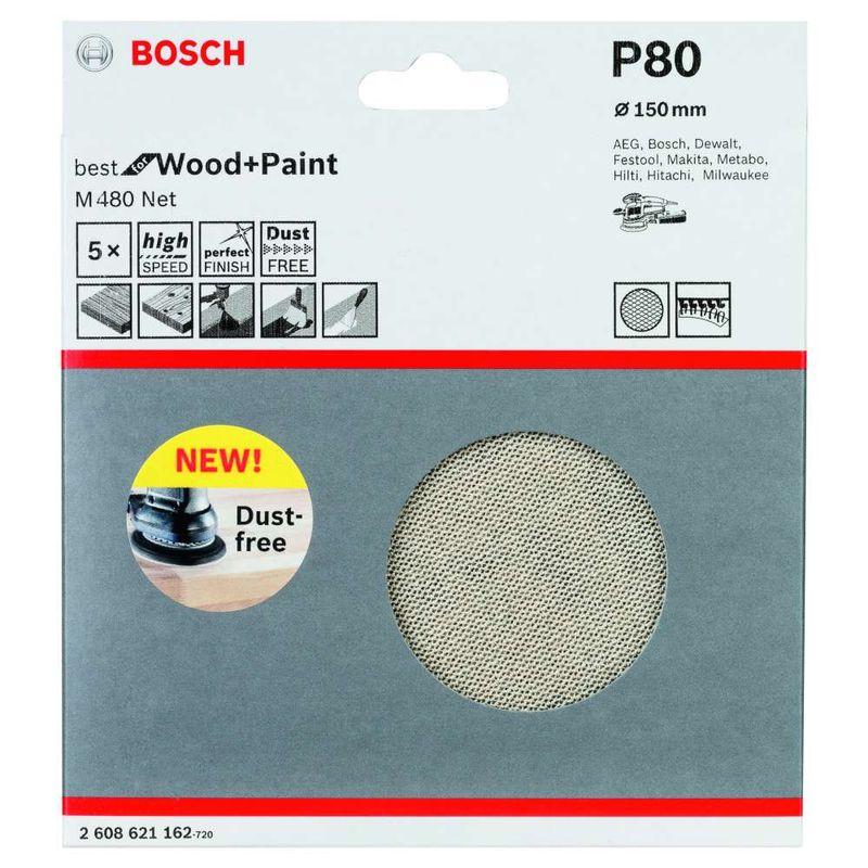 Disco-de-Lixa-Bosch-M480-Best-for-Wood---Paint-150mm-G80---5-unidades