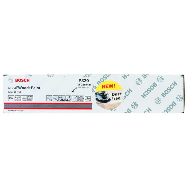 Disco-de-Lixa-Bosch-M480-Best-for-Wood---Paint-225mm-G320---25-unidades