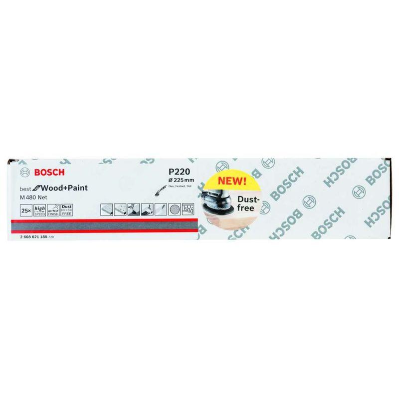 Disco-de-Lixa-Bosch-M480-Best-for-Wood---Paint-225mm-G220---25-unidades