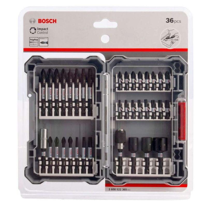 Kit-de-Pontas-e-Soquetes-Bosch-para-Parafusar---36-unidades-Impact-Control