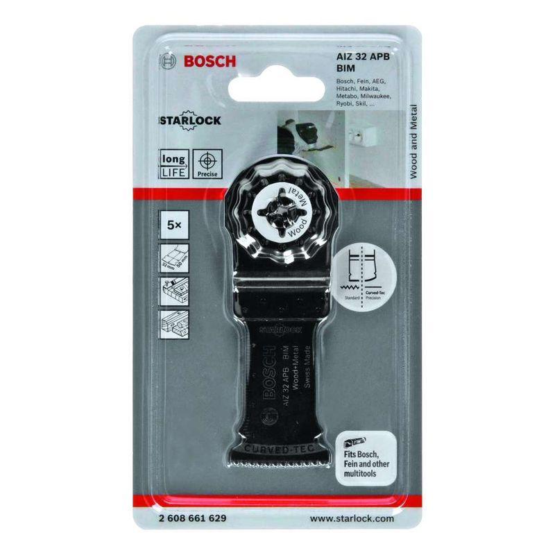 Lamina-de-serra-de-imersao-Bosch-para-multicortadora-BIM-AIZ-32-APB-Wood-and-Metal-50-x-32mm---5-unidades