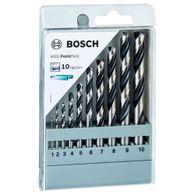Broca para Metal Bosch Aço Rápido HSS-PointTeQ 1,0-10,0mm com 10 unidades