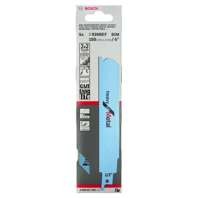 Lamina-de-serra-sabre-Bosch-S926BEF-Heavy-for-Metal---5-unidades