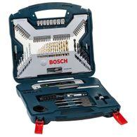 Kit de Pontas e Brocas em Titânio Bosch X-Line para parafusar e perfurar - 100 unidades