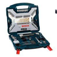 Kit de Pontas e Brocas em Titânio Bosch X-Line para parafusar e perfurar - 103 unidades