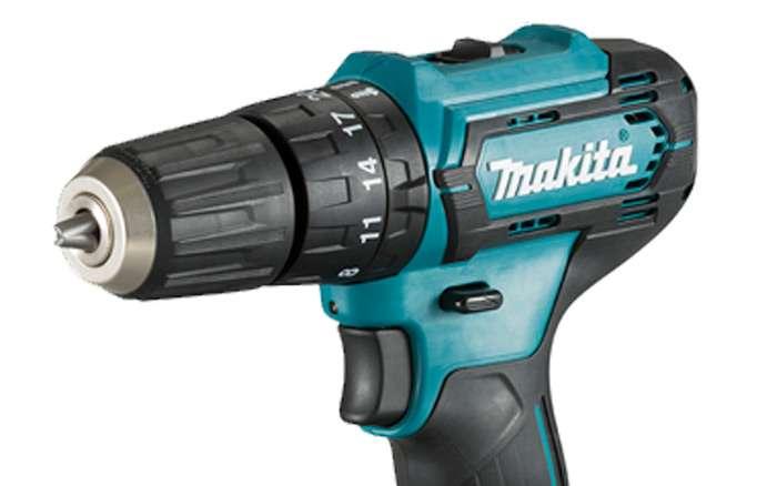 Parafusadeira-Furadeira-de-Impacto-a-Bateria-Makita-3-8--HP333DWYX3-12V-com-Bateria---Carregador-Bivolt---Bit