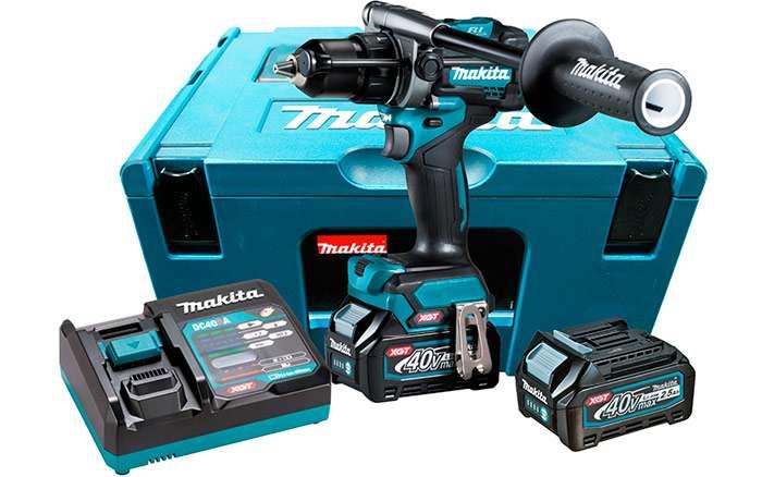 Parafusadeira-Furadeira-de-Impacto-a-Bateria-Makita-HP001GD201-1-2--40V---2-baterias---Carregador---Maleta-MAK-Pac-Acessorios