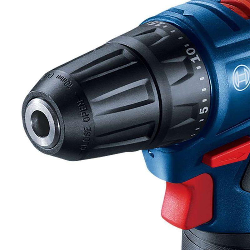 Parafusadeira-Furadeira-a-Bateria-3-8--Bosch-GSR-120-LI-12V---2-Baterias-20Ah---1-Carregador-Rapido-Bivolt---Maleta