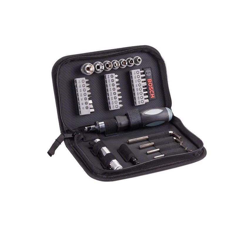 Kit-de-Pontas-e-Soquetes-Bosch-para-parafusar-com-38-unidades