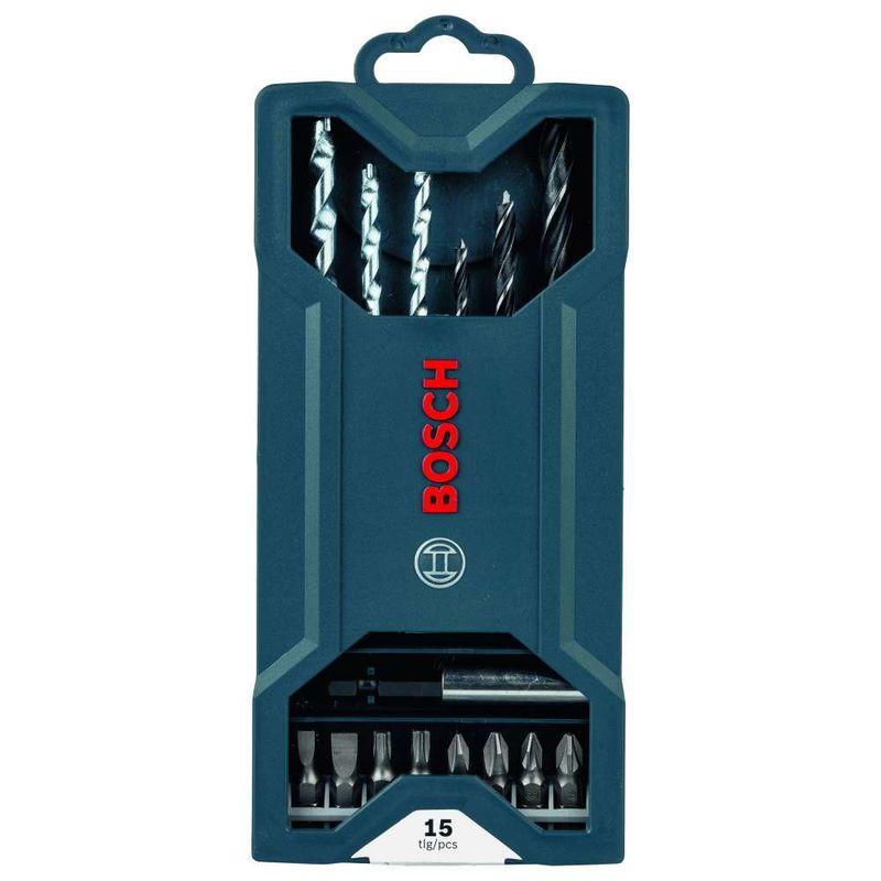 Kit-de-Pontas-e-Brocas-Bosch-Mini-X-Line-para-parafusar-e-perfurar-com-15-unidades