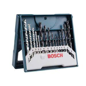 Kit de Brocas para Concreto Metal e Madeira Bosch Mini X-Line 3-8mm com 15 unidades