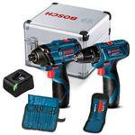 Combo-12V-Bosch-Chave-de-Impacto-GDR-120-LI---Parafusadeira-GSR-120-LI---2-Baterias---Carregador-BIVOLT---Kit-de-Acessorios-em-Maleta-de-aluminio