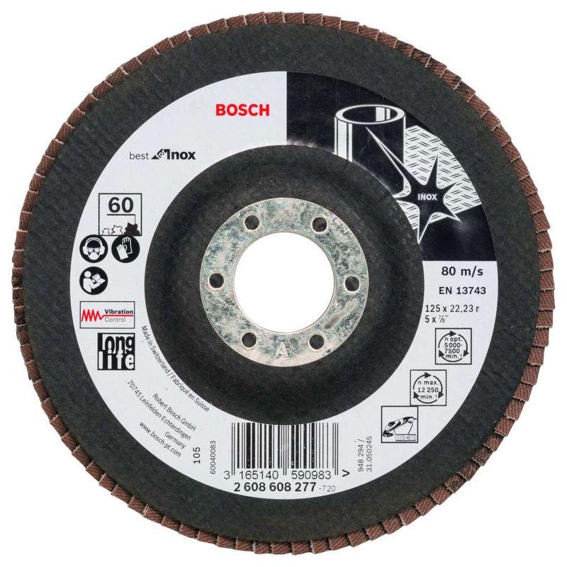 Disco-Flap-Bosch-X581-Best-for-Inox-125mm-G60-Reto-Fibra-de-Vidrio