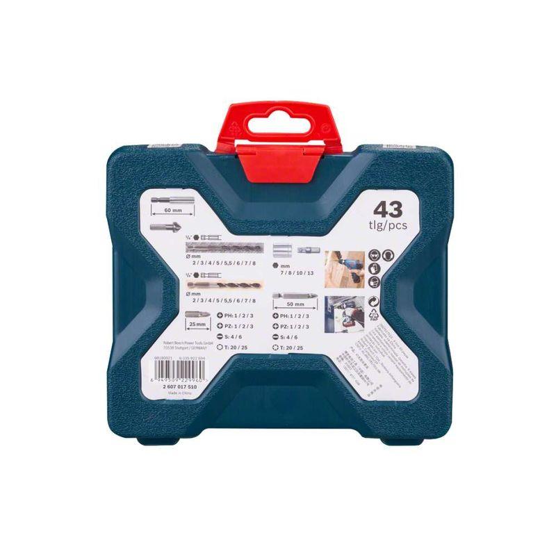 Kit-de-Pontas-e-Brocas-Bosch-X-Line-para-parafusar-e-perfurar-com-43-unidades