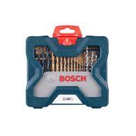 Kit de Pontas e Brocas em Titânio Bosch X-Line para parafusar e perfurar com 40 unidades