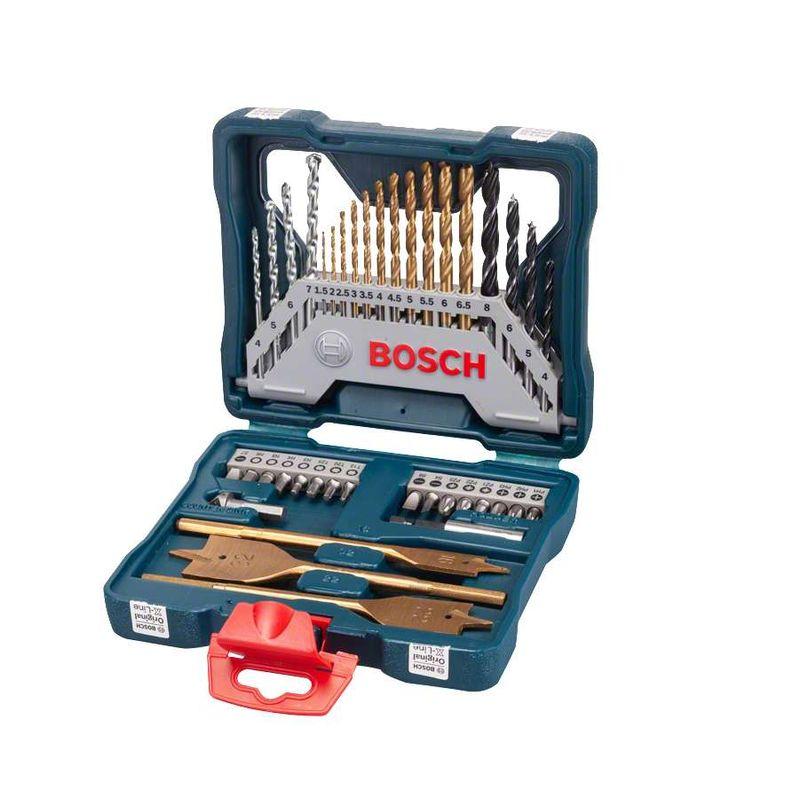 Kit-de-Pontas-e-Brocas-em-Titanio-Bosch-X-Line-para-parafusar-e-perfurar-com-40-unidades