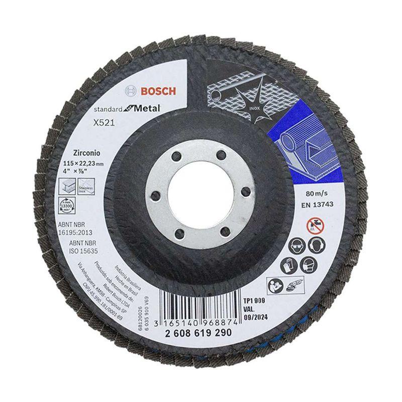 Disco-Flap-Bosch-Standard-for-Metal-115mm-G80-Curvo-Fibra-de-Vidrio