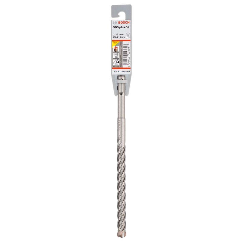 Broca-Bosch-SDS-plus-5X-para-concreto-Ø12-x-150-x-210mm