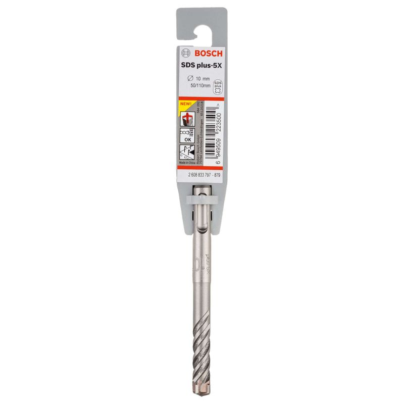 Broca-Bosch-SDS-plus-5X-para-concreto-Ø10-x-50-x-110mm