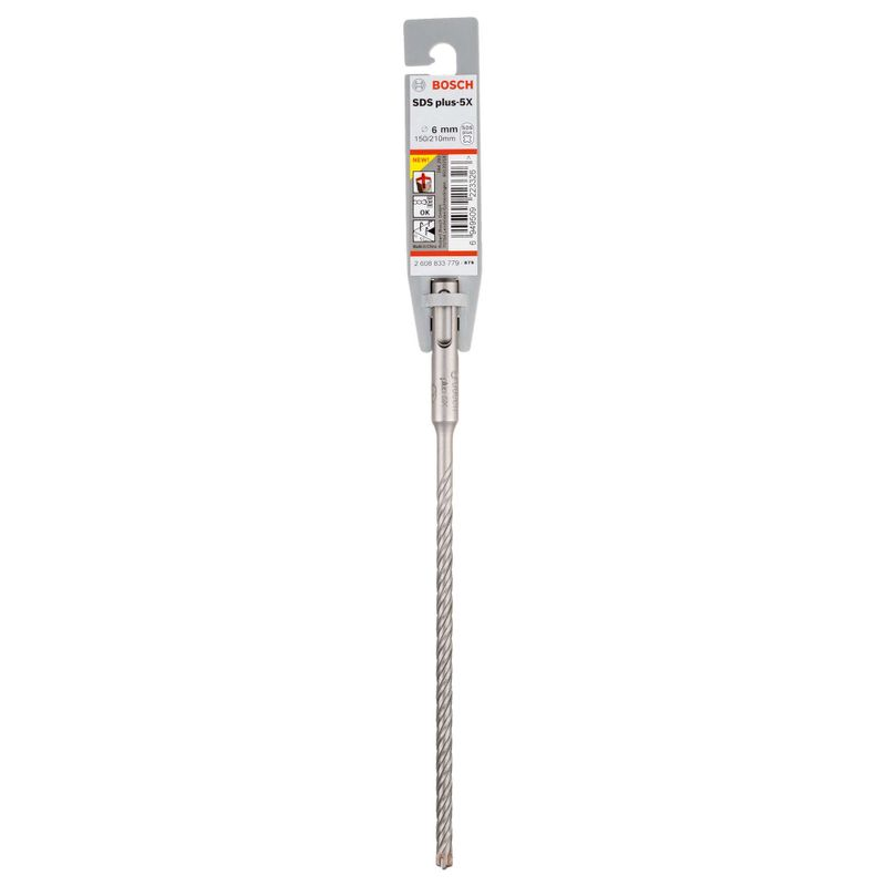 Broca-Bosch-SDS-plus-5X-para-concreto-Ø6-x-150-x-210mm