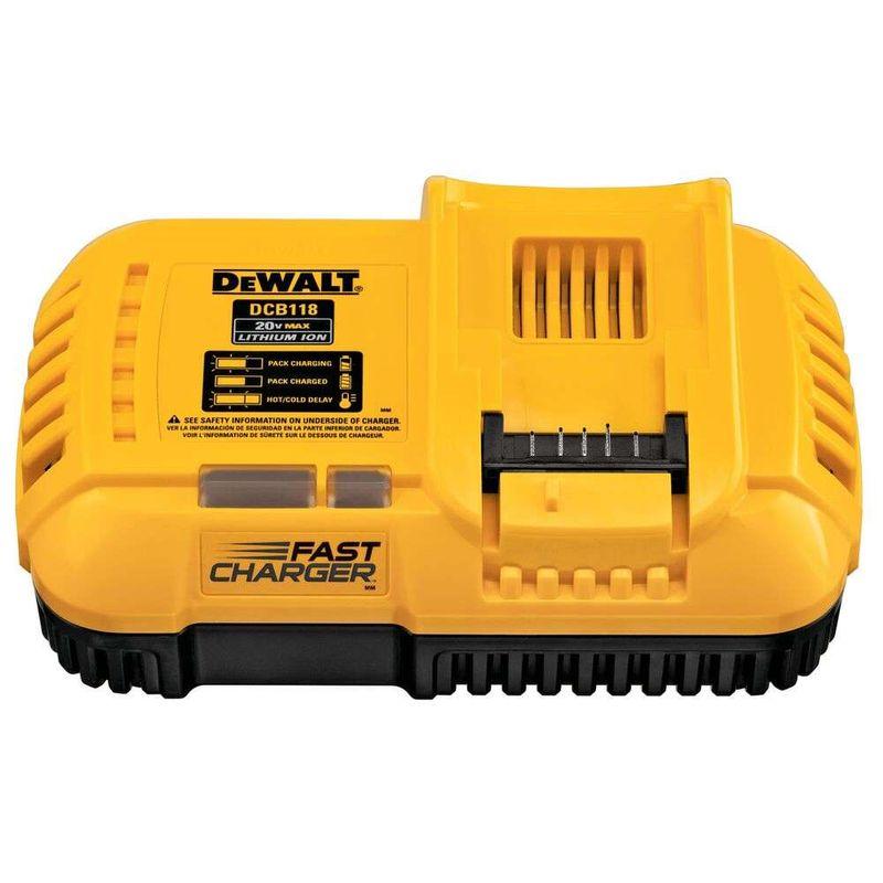 Carregador-Rapido-para-Baterias-Dewalt-DCB118-BR-12V-20V-60V-Max-Ion-de-Litio-127V