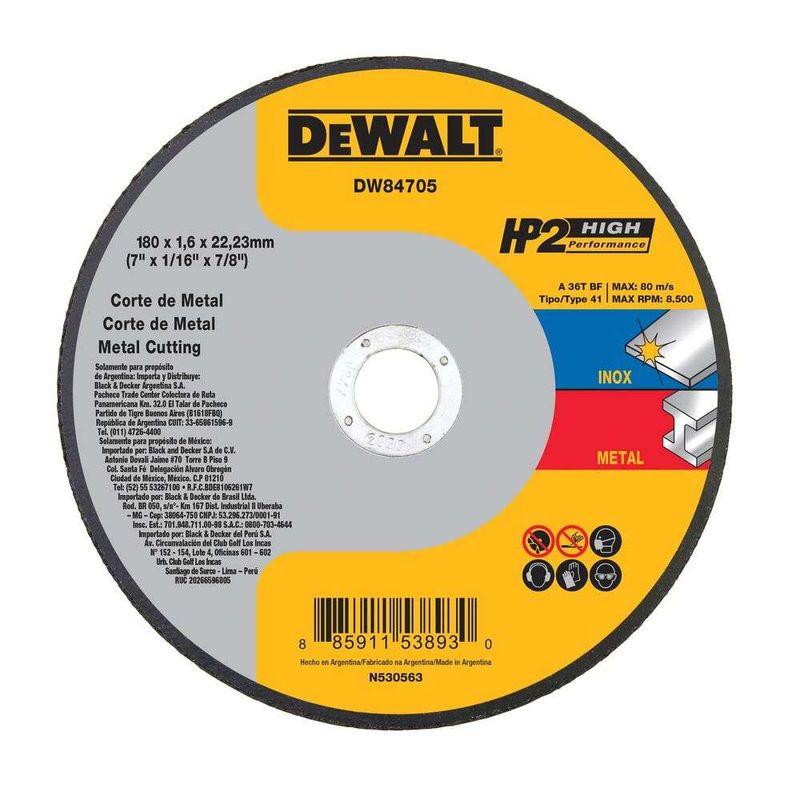 Disco-de-Corte-Dewalt-7--DW84705-Hp12-Performance-Superior