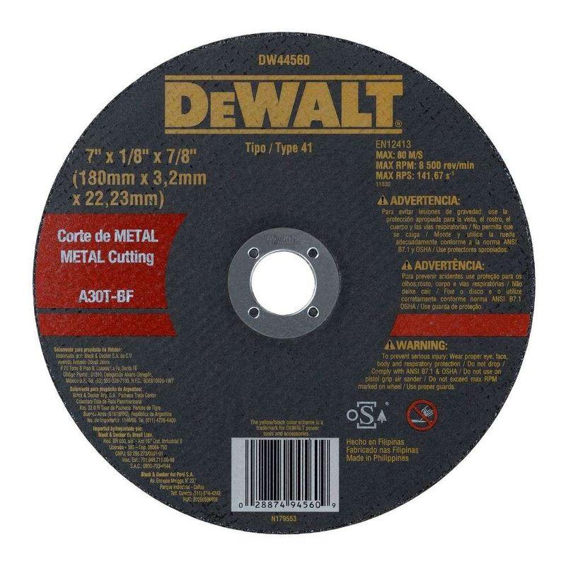 Disco-de-Corte-Dewalt-DW44560-Metal-7--X-7-8--X-32-mm