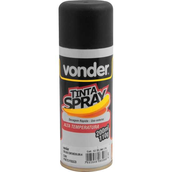 Tinta-Em-Spray-Vonder-Alta-Temperatura-Preta-com-200-Ml