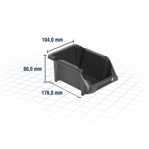 Gaveteiro-Plastico-Modelo-Pratico-Vonder-Nº-3-Preto