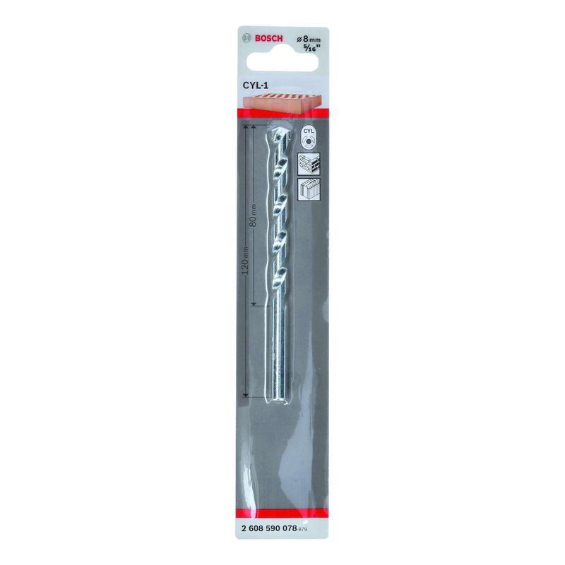 Broca-Bosch-CYL-1-para-concreto-Ø8-x-80-x-120mm