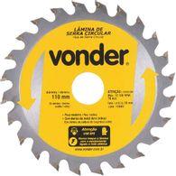 Lâmina de Serra Circular Vonder com Dentes de Metal Duro/Vídea 110 mm X 20 mm 24 Dentes