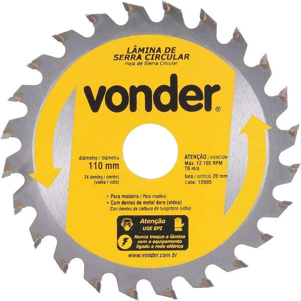 Lamina-de-Serra-Circular-Vonder-com-Dentes-de-Metal-Duro-Videa-110-mm-X-20-mm-24-Dentes