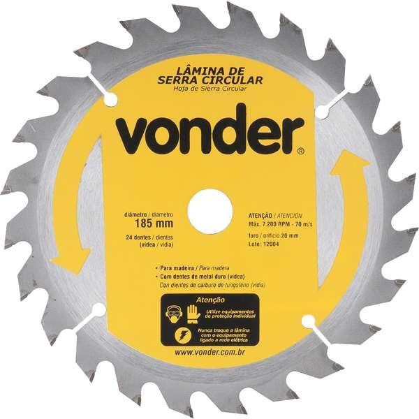 Lamina-de-Serra-Circular-Vonder-com-Dentes-de-Metal-Duro-Videa-185-mm-X-20-mm-24-Dentes