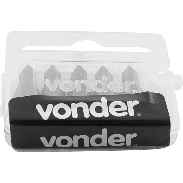 Bits-Ponteira-Phillips-Vonder-com-Encaixe-1-4--Nº-1-X-25-mm-Cartela-com-5-Pecas