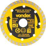 Disco-de-Corte-Diamantado-Vonder-110-mm-Furo-de-20-mm-Turbo-V2