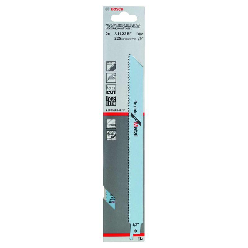 Lamina-de-serra-sabre-Bosch-S1122BF-Flexible-for-Metal---2-unidades