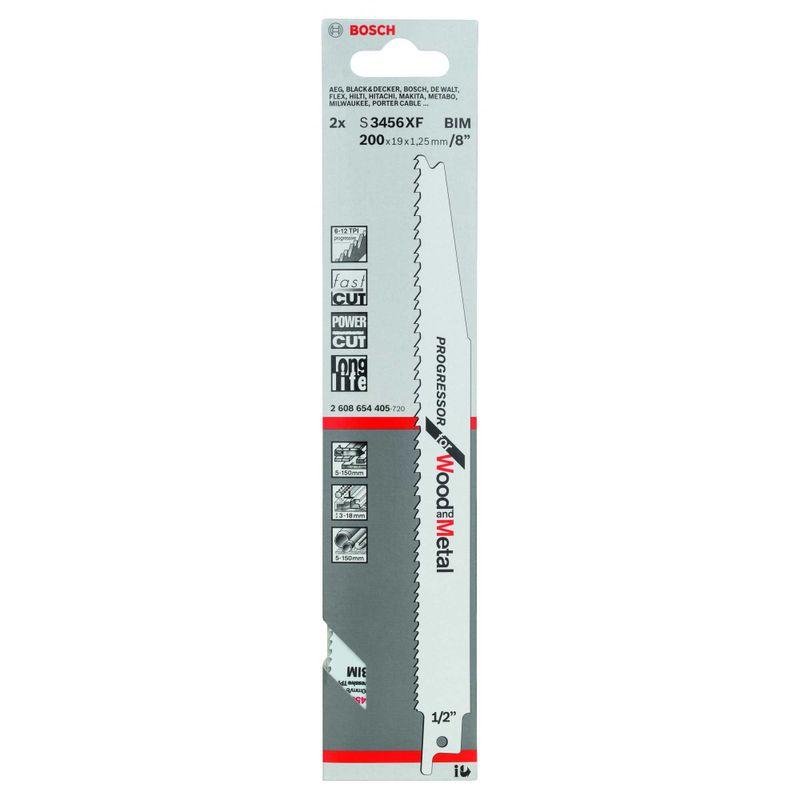Lamina-de-serra-sabre-Bosch-S3456XF-Progressor-for-Wood-and-Metal---2-unidades