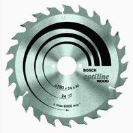 "Disco de serra circular Bosch Optiline Wood ø184 furo de 5/8"" espessura de 1,5mm 24 dentes"